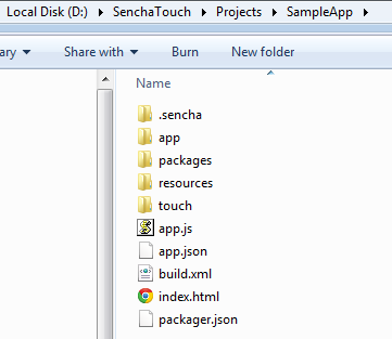 InnovationM Sencha Touch Project Structure