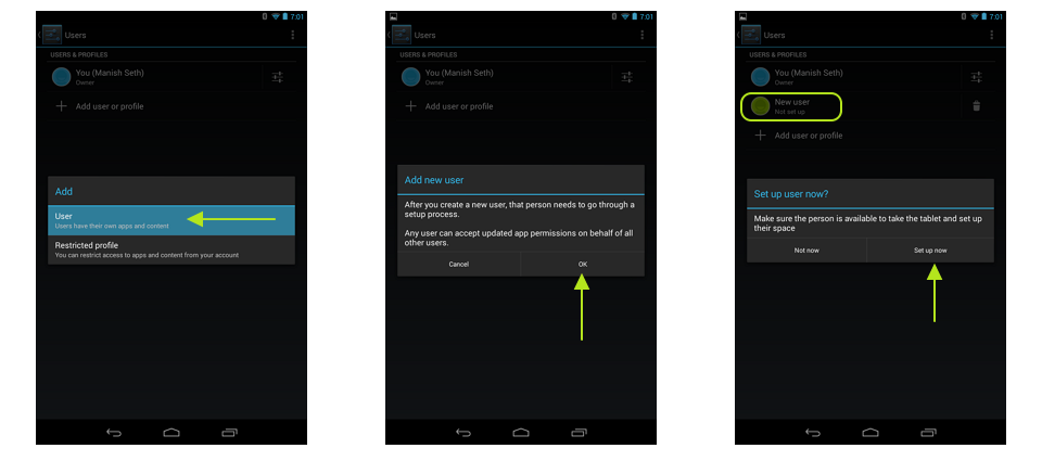 InnovationM Android Multiple User Profile