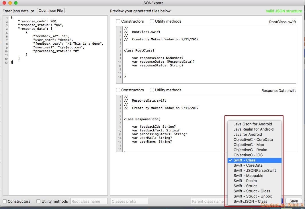 JSONExport: JSON to Model - DZone Web Dev